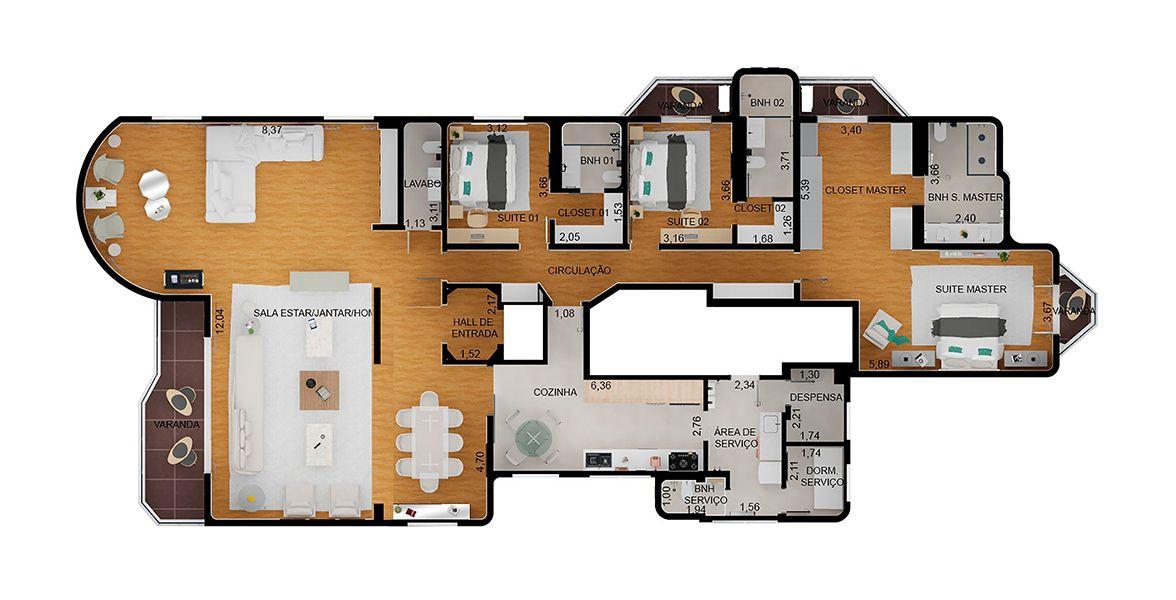 Planta do Edifício Világio Splendido. floorplan