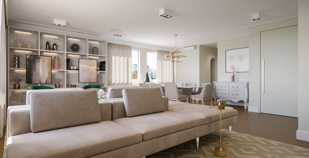 LIVING do apto de 180 m² no 7º andar.