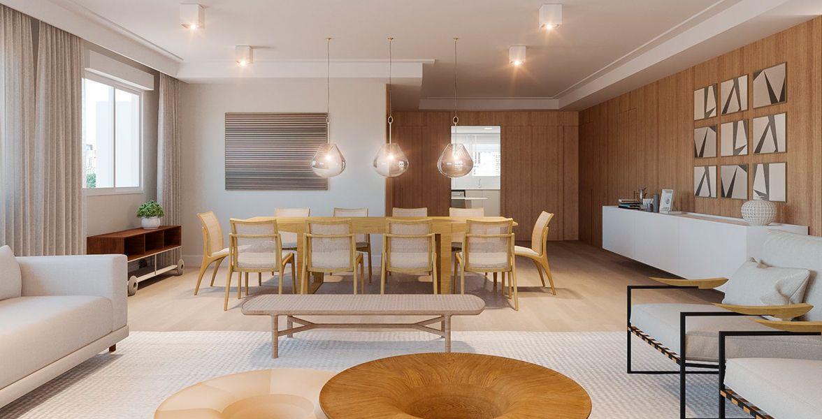 LIVING do apto de 286 m² no 5º andar.