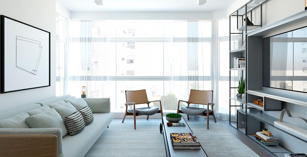LIVING do apto de 141 m² no 4º andar.