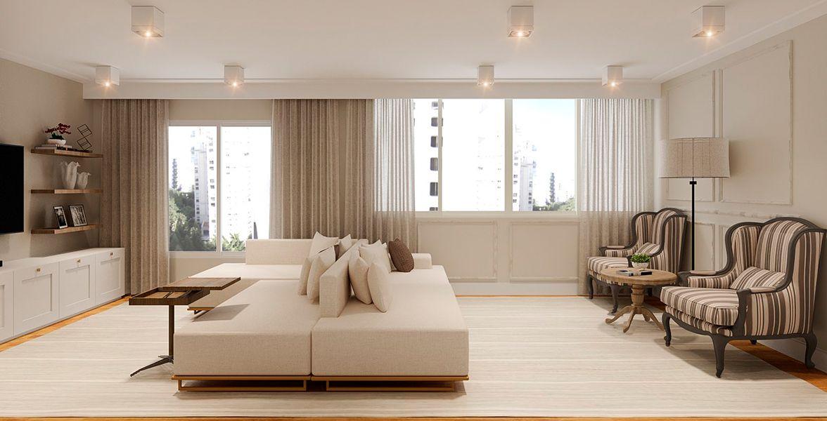 LIVING do apto de 129 m² no 12º andar.