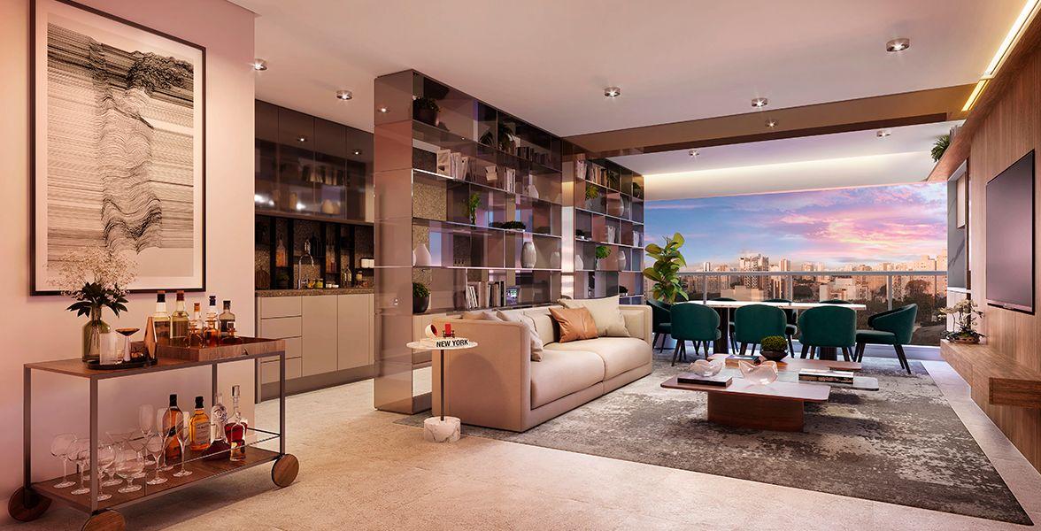 LIVING do apto de 95 m².