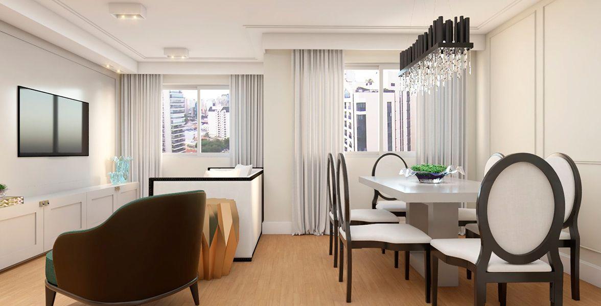 LIVING do apto de 79 m² no 14º andar.