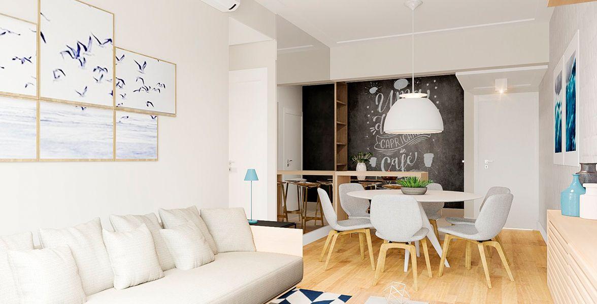 LIVING do apto de 85 m² no 6º andar.