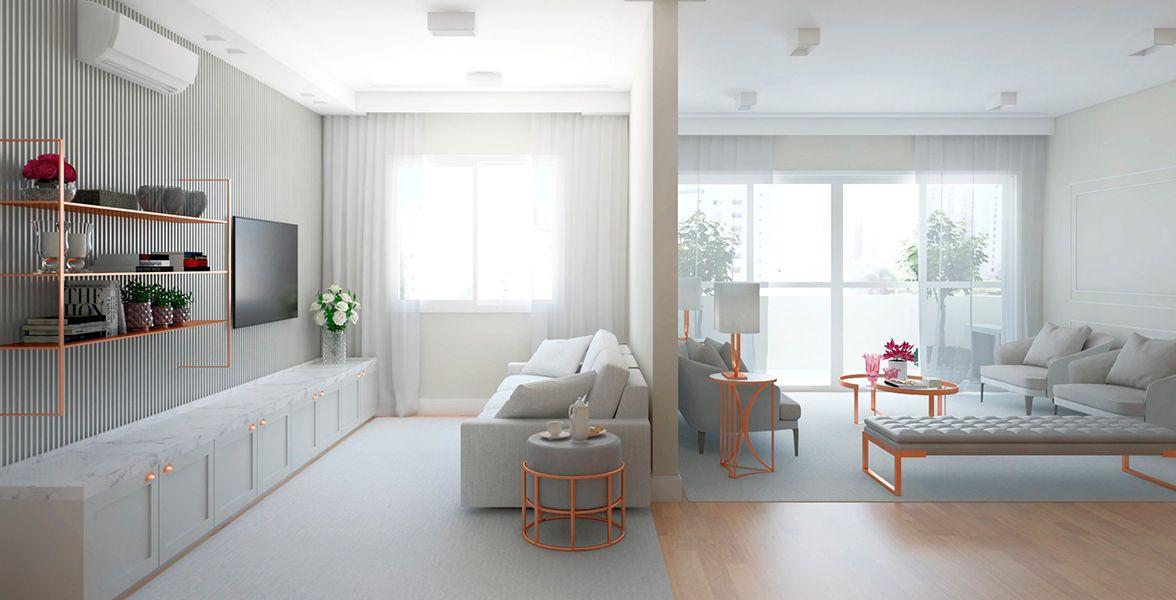 LIVING do apto de 186 m² no 6º andar.