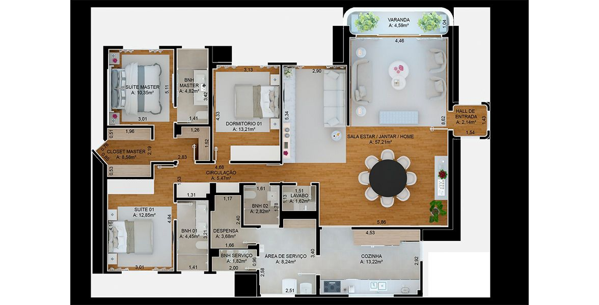 Planta do Edifício Renata. floorplan