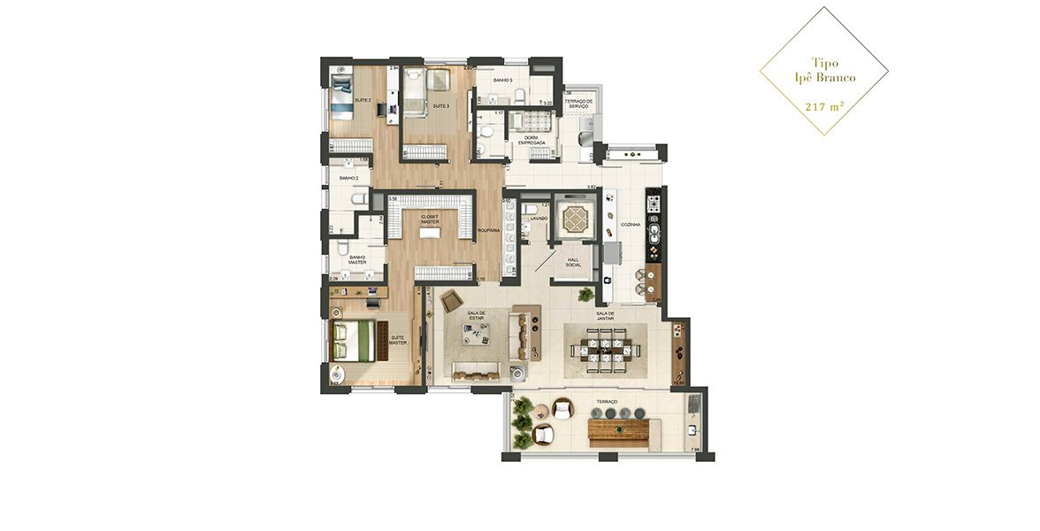 Planta do Quartier Auri. floorplan