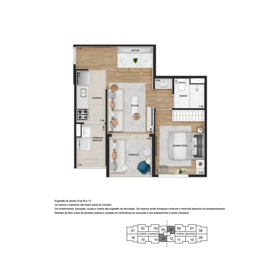 Planta do Teg Sacomã. floorplan