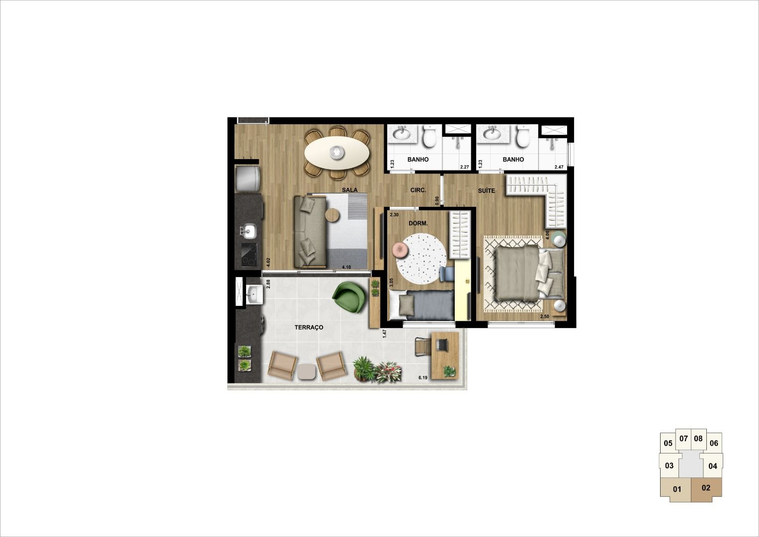 Planta do NeoHouse Campo Belo. floorplan