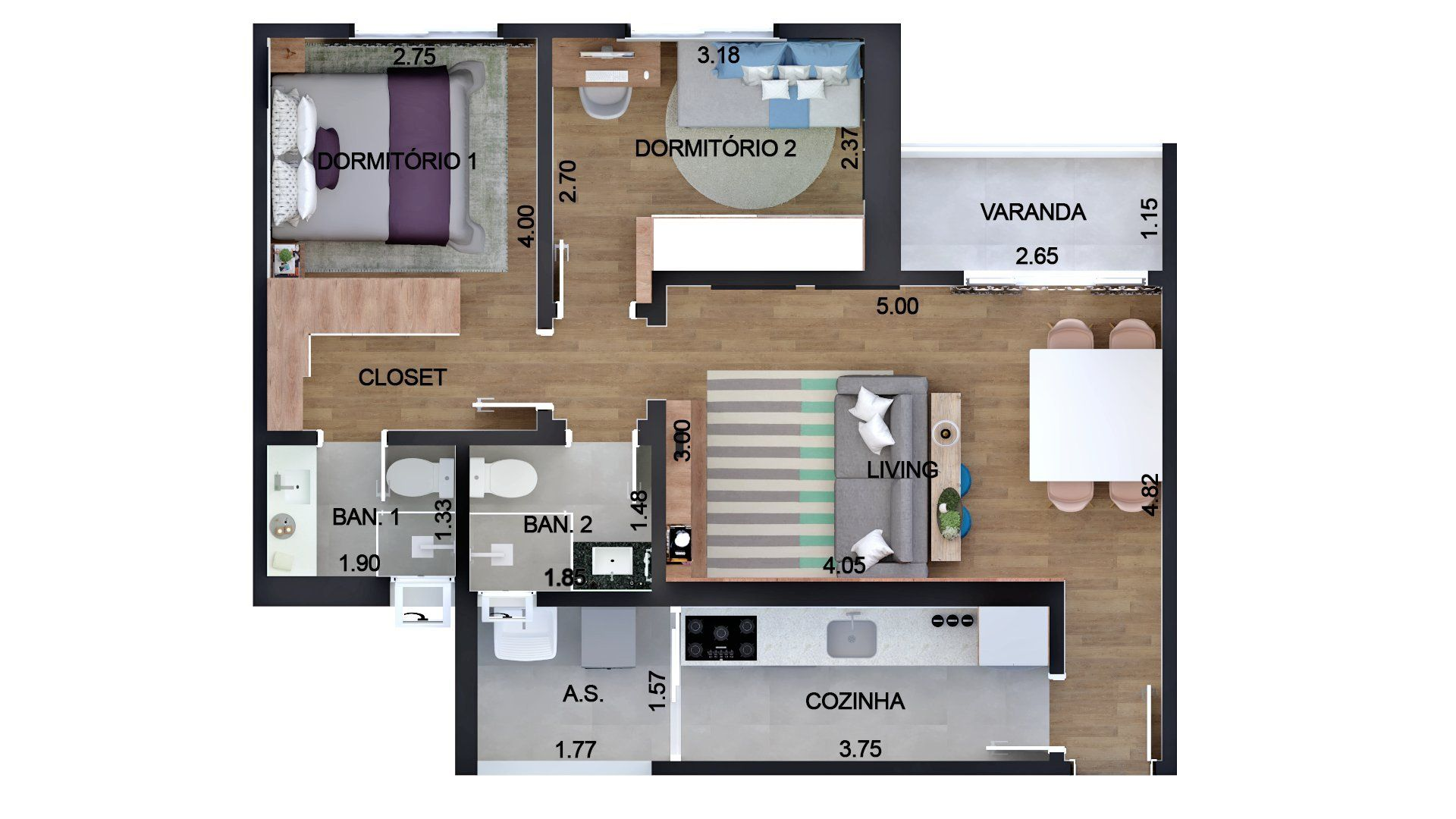 Planta do Edifício Cortina D'ampezzo. floorplan