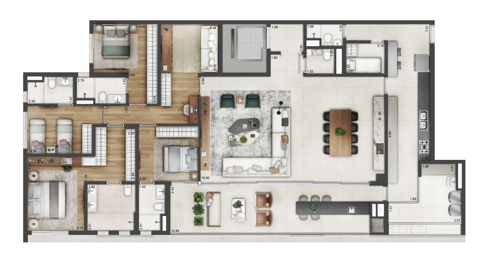 Planta do Arbo Casas Verticais. floorplan