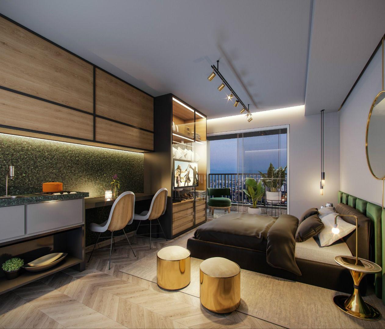 LIVING do studio de 25 m².
