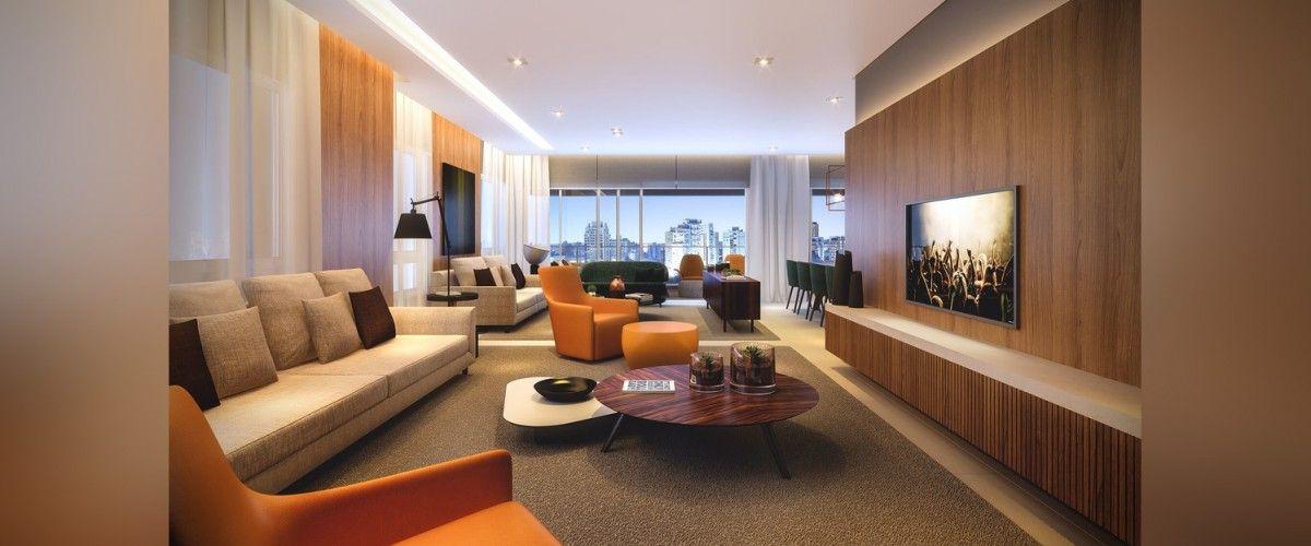 LIVING do apto de 330 m².