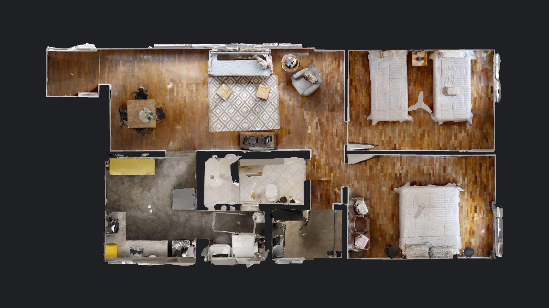 79 M² - 2 DORMITÓRIOS. (Apartamento 12, 1º andar).