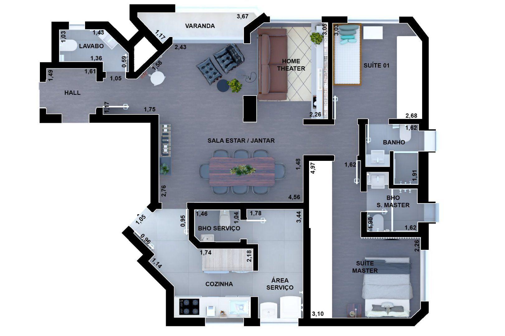 Planta do Edifício Monte Chenot. floorplan