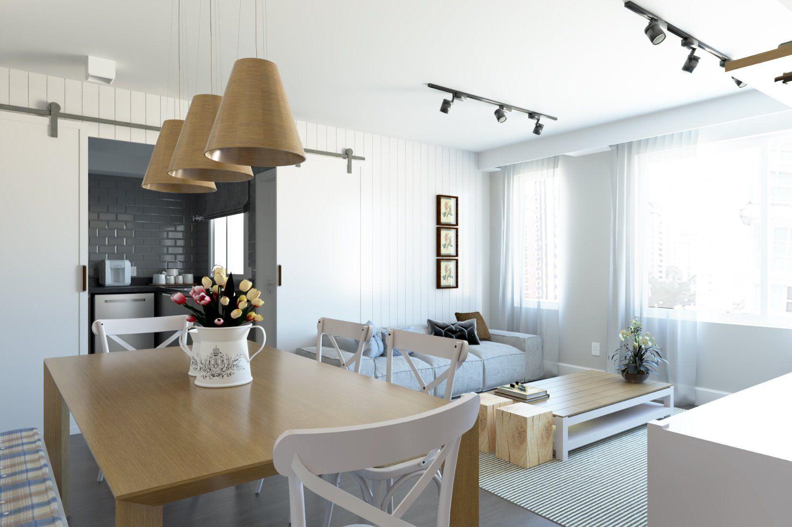 LIVING do apto de 101 m². (Apartamento 54, 5º andar).