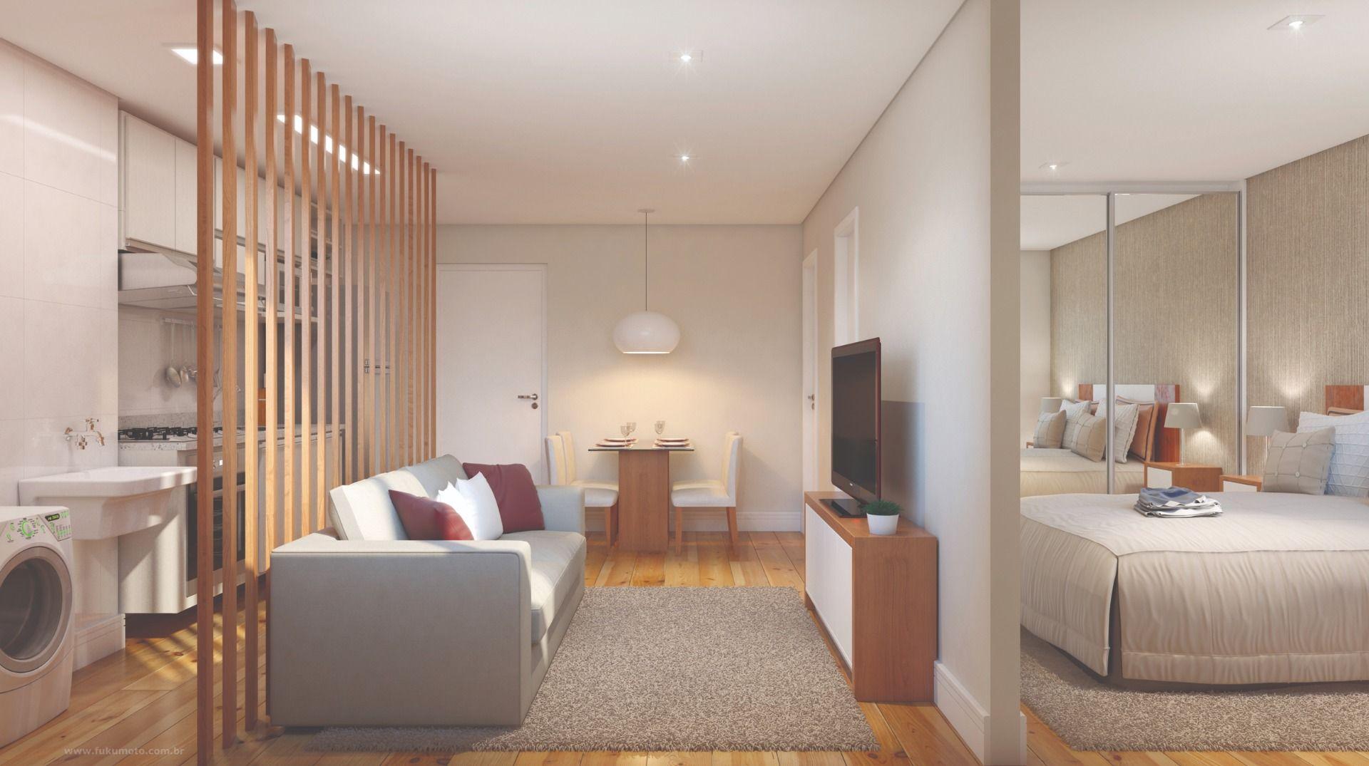 SALA do apto de 32 m².