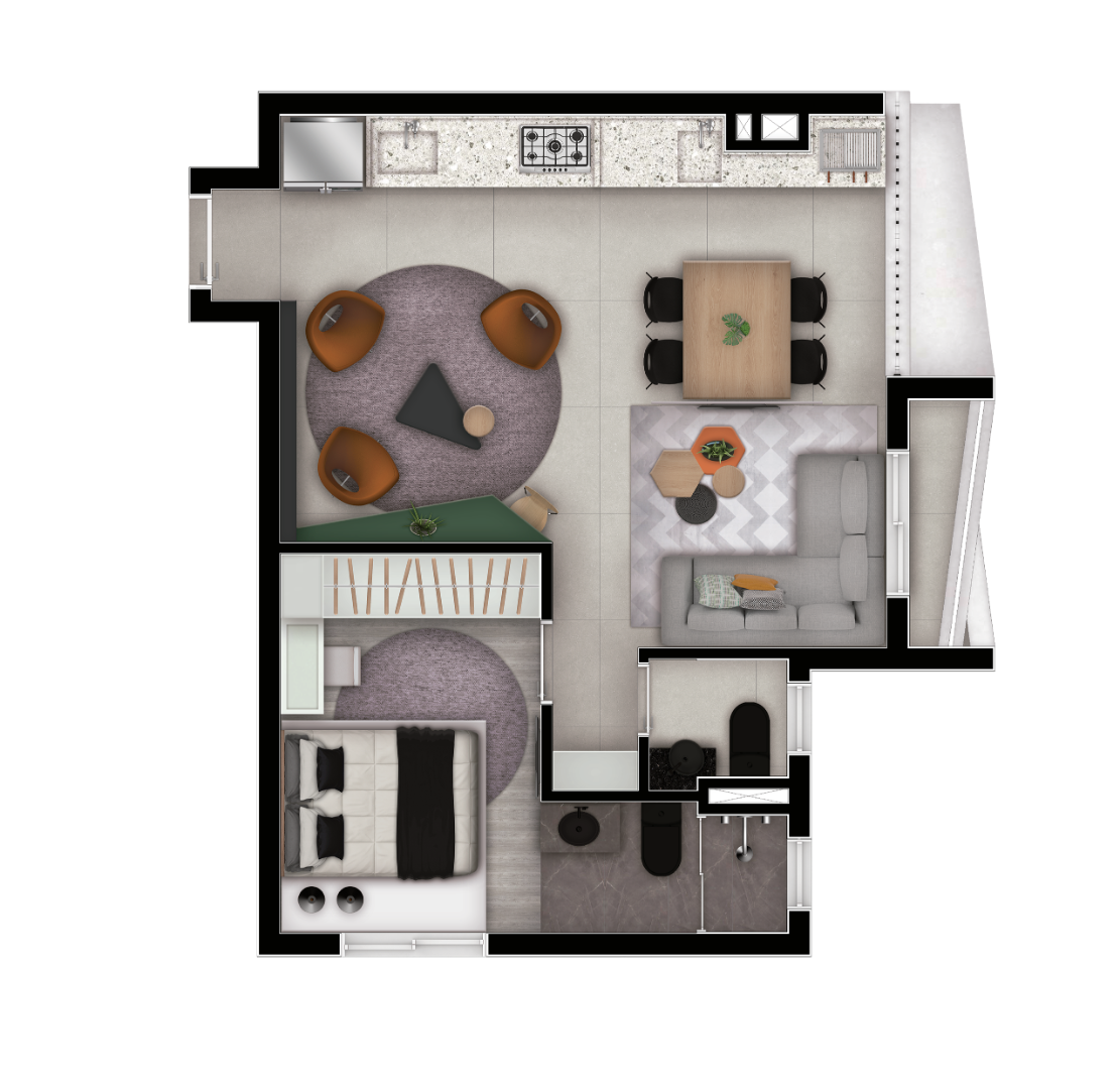 Planta do Ultra Bela Vista. floorplan