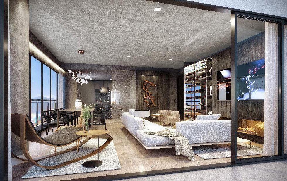 LIVING do apto de 154 m².