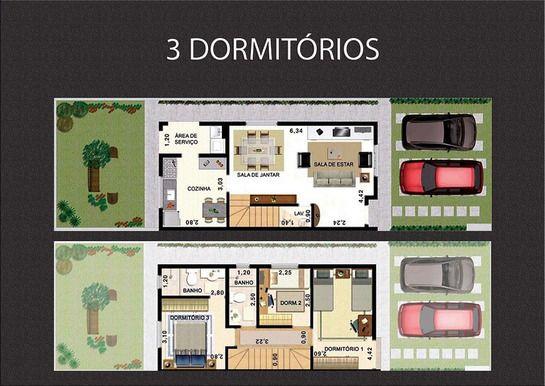 89 M² - 3 DORMITÓRIOS, SENDO 1 SUÍTE.