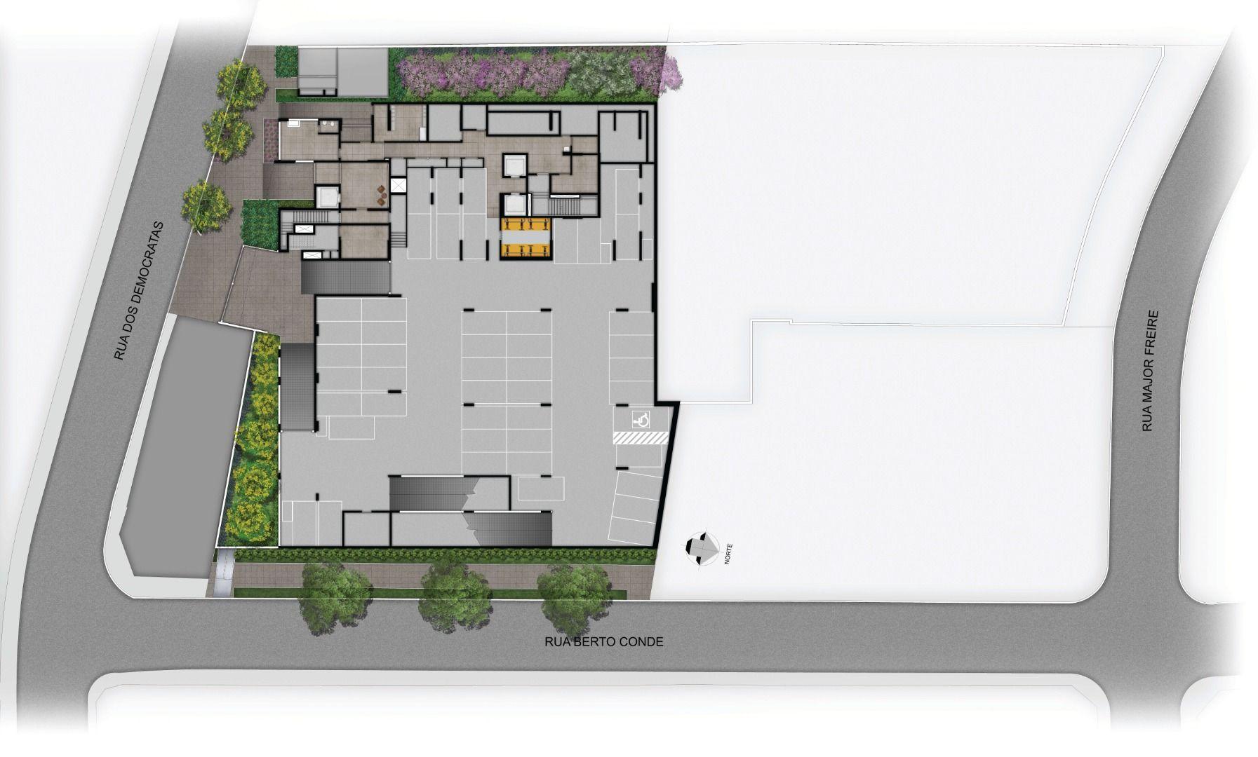 Planta do Modo Saúde. floorplan