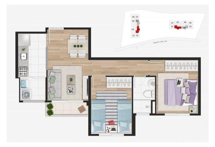 Planta do Art Home Osasco. floorplan