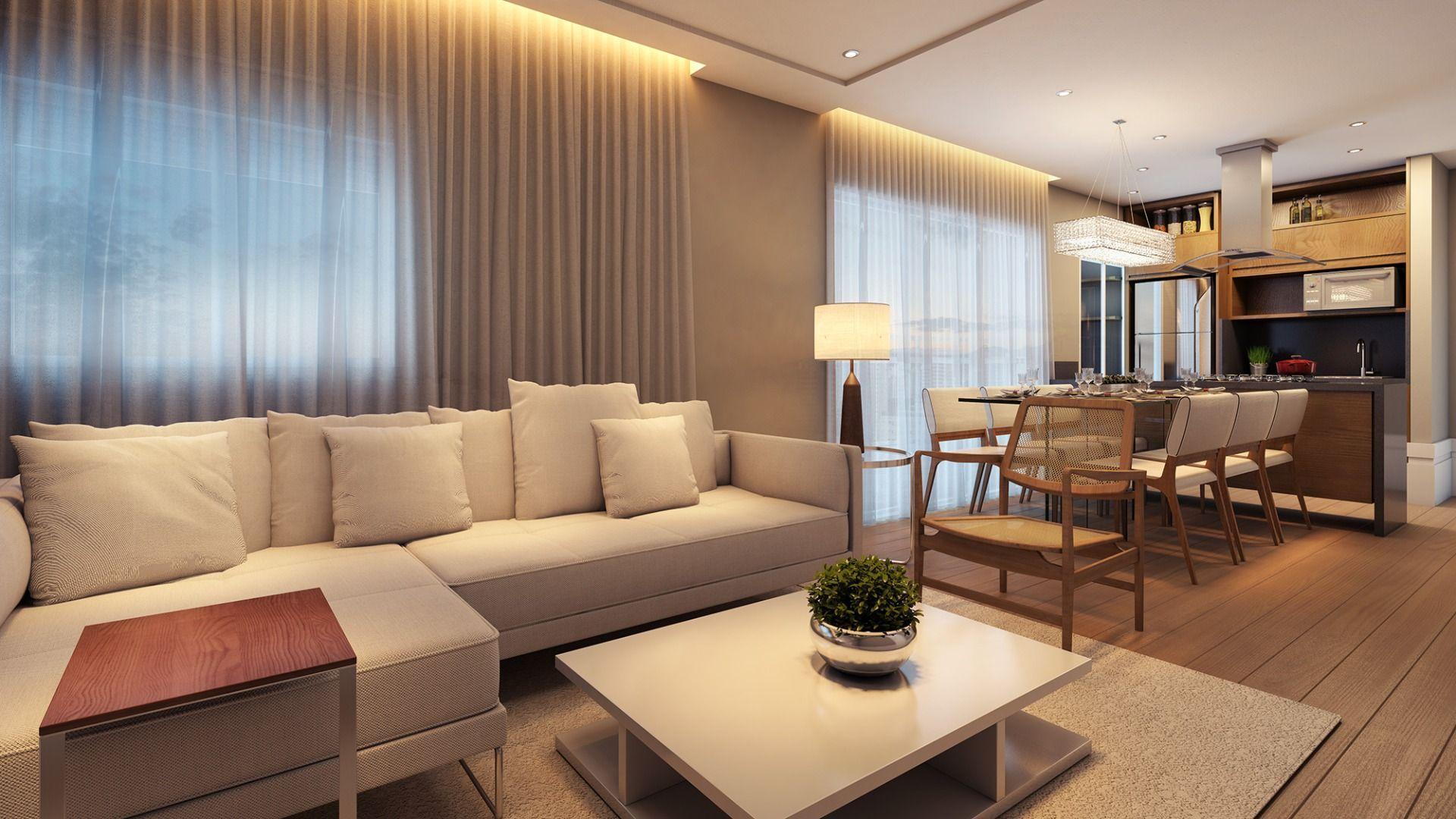 LIVING do apto de 59 m².