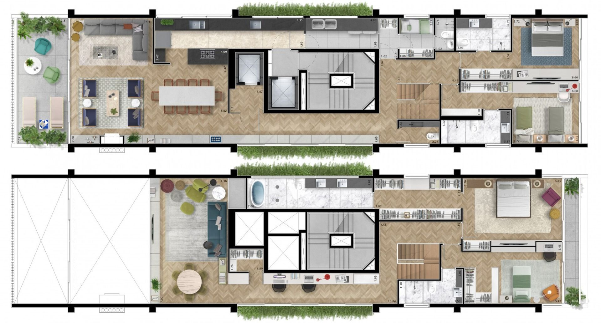 Planta do Itacolomi 445. floorplan