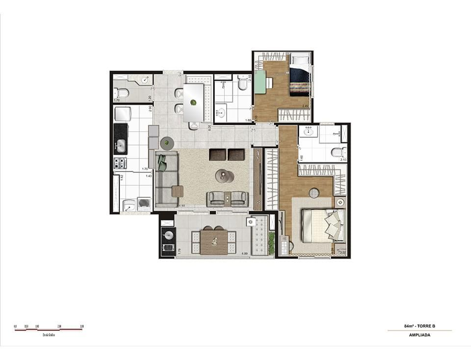 Planta do Gafisa Square Ipiranga. floorplan