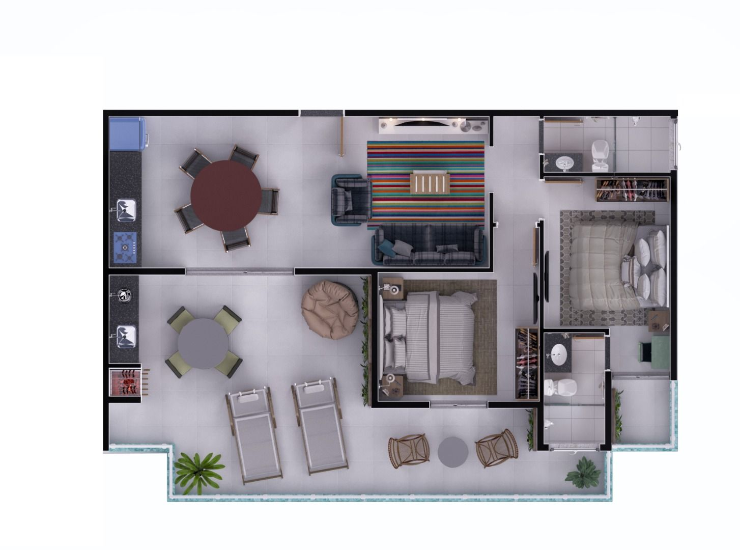 Planta do Anguilla Residence. floorplan
