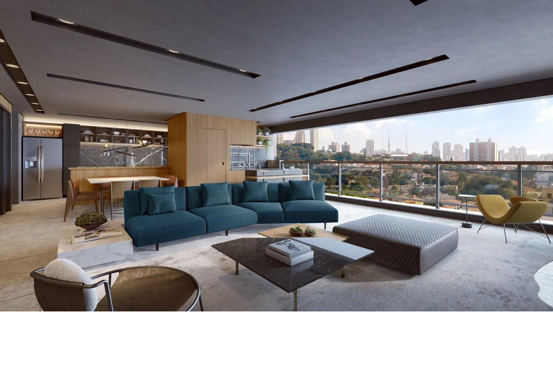 LIVING E TERRAÇO GOURMET do apto de 167 m².