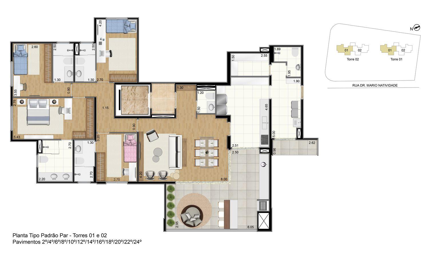 Planta do Arthouse Double Sky. floorplan