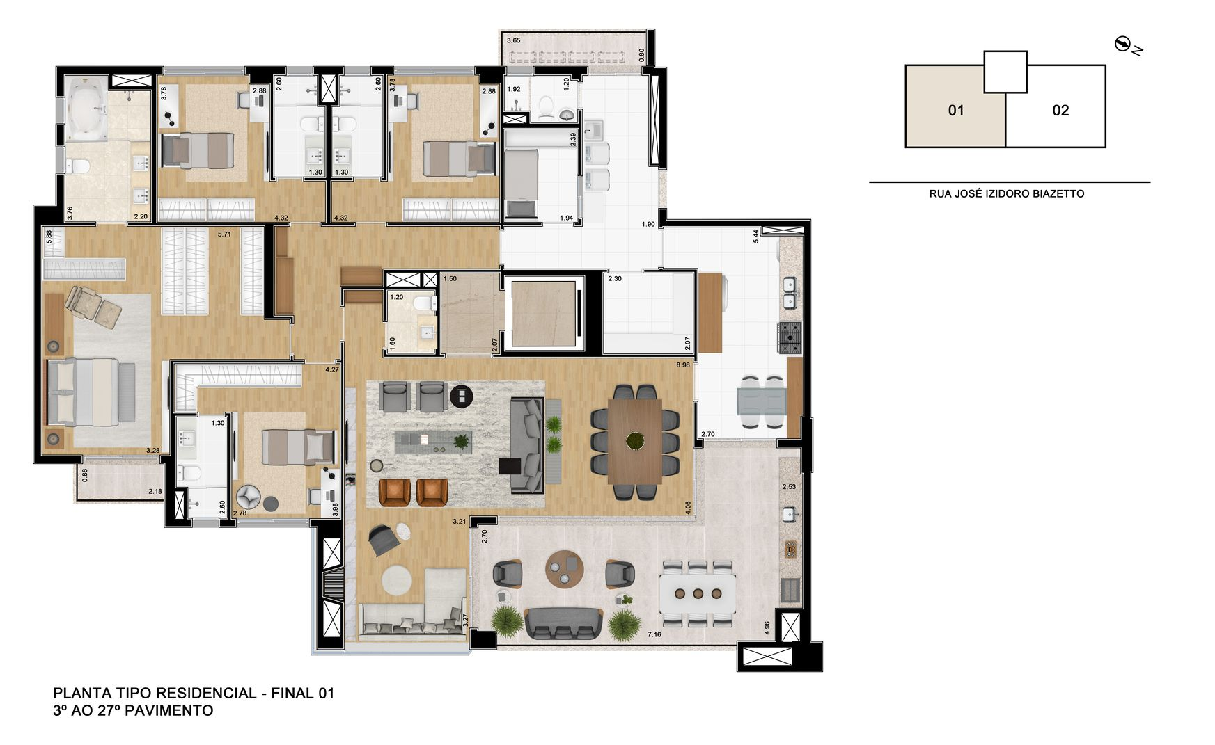 Planta do Landscape Ecoville. floorplan
