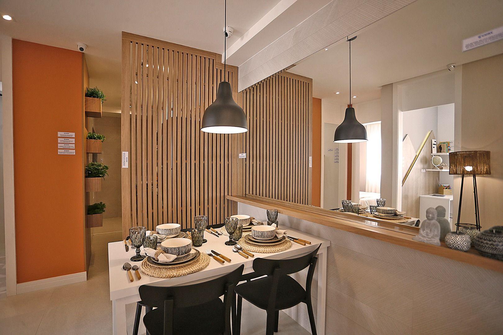 SALA do apto de 40 m² - Fotos do apartamento decorado.