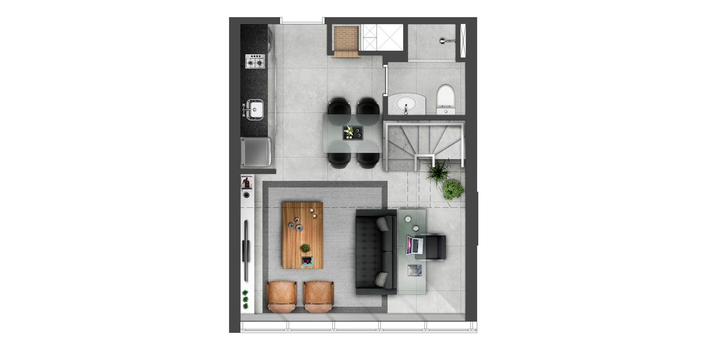 Planta do Hom Nilo Residencial. floorplan