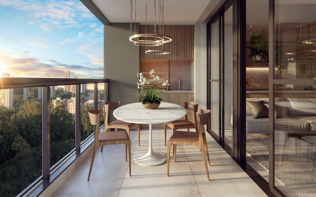 TERRAÇO gourmet com churrasqueira do apto de 93 m² do Vista Golf