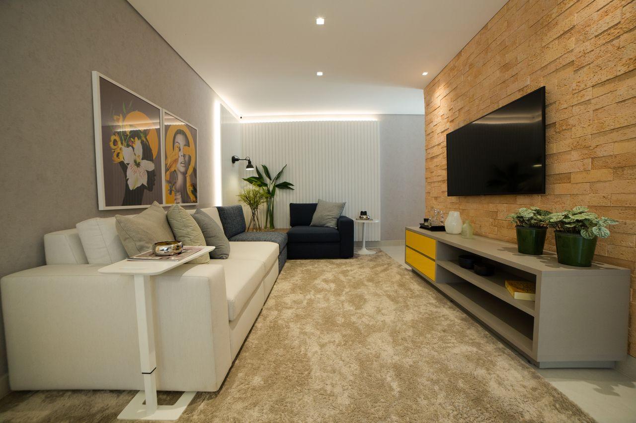 SALA - Fotos reais do apartamento decorado de 90 m².