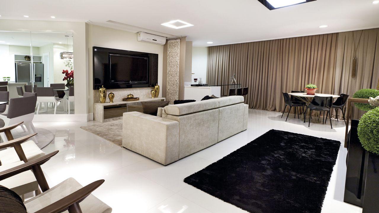 LIVING do apto de 164 m².