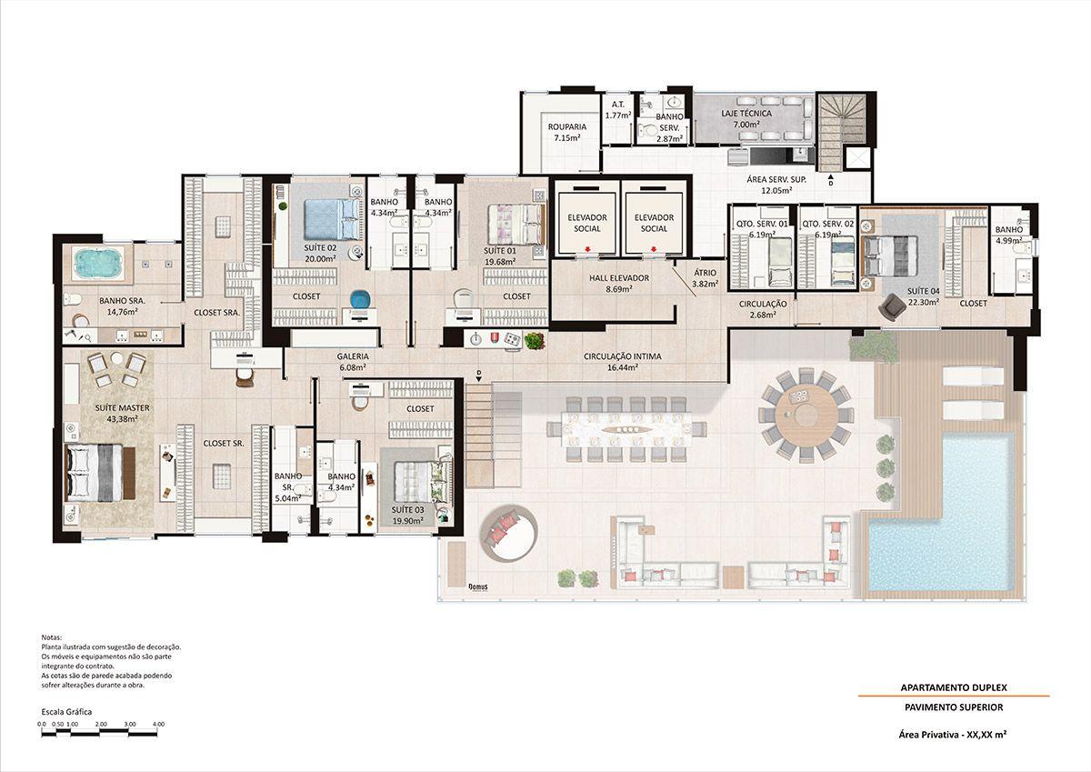 Planta do Kingdom Park Residence. floorplan