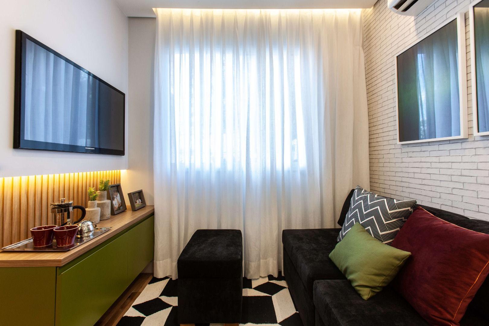SALA do apto de 41 m².