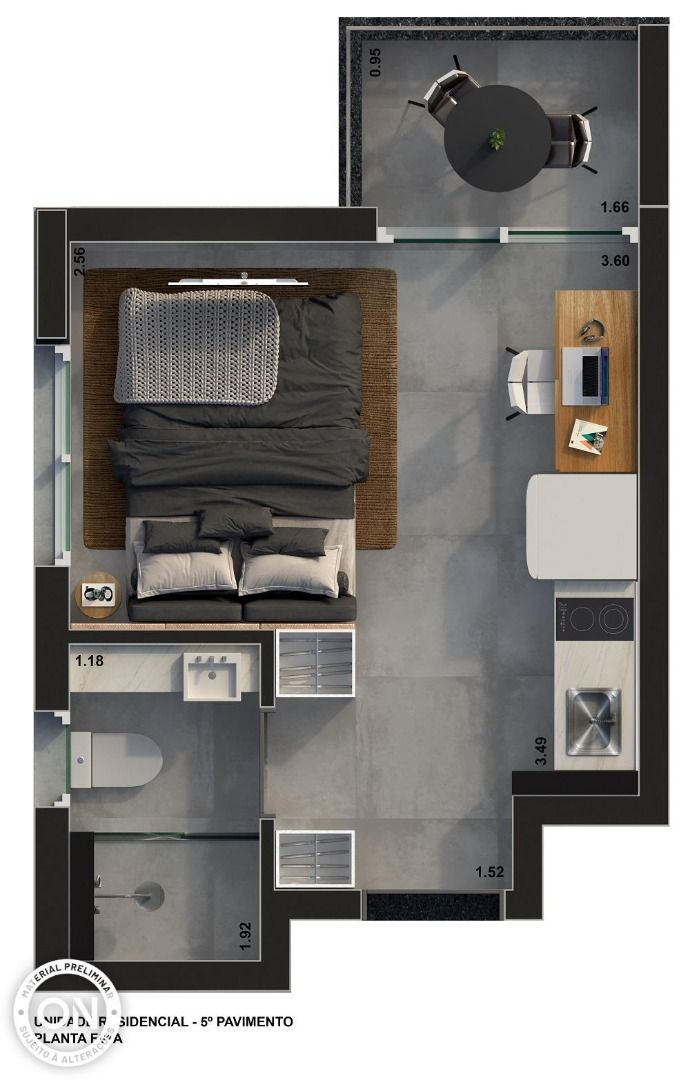 Planta do ON Loefgreen. floorplan
