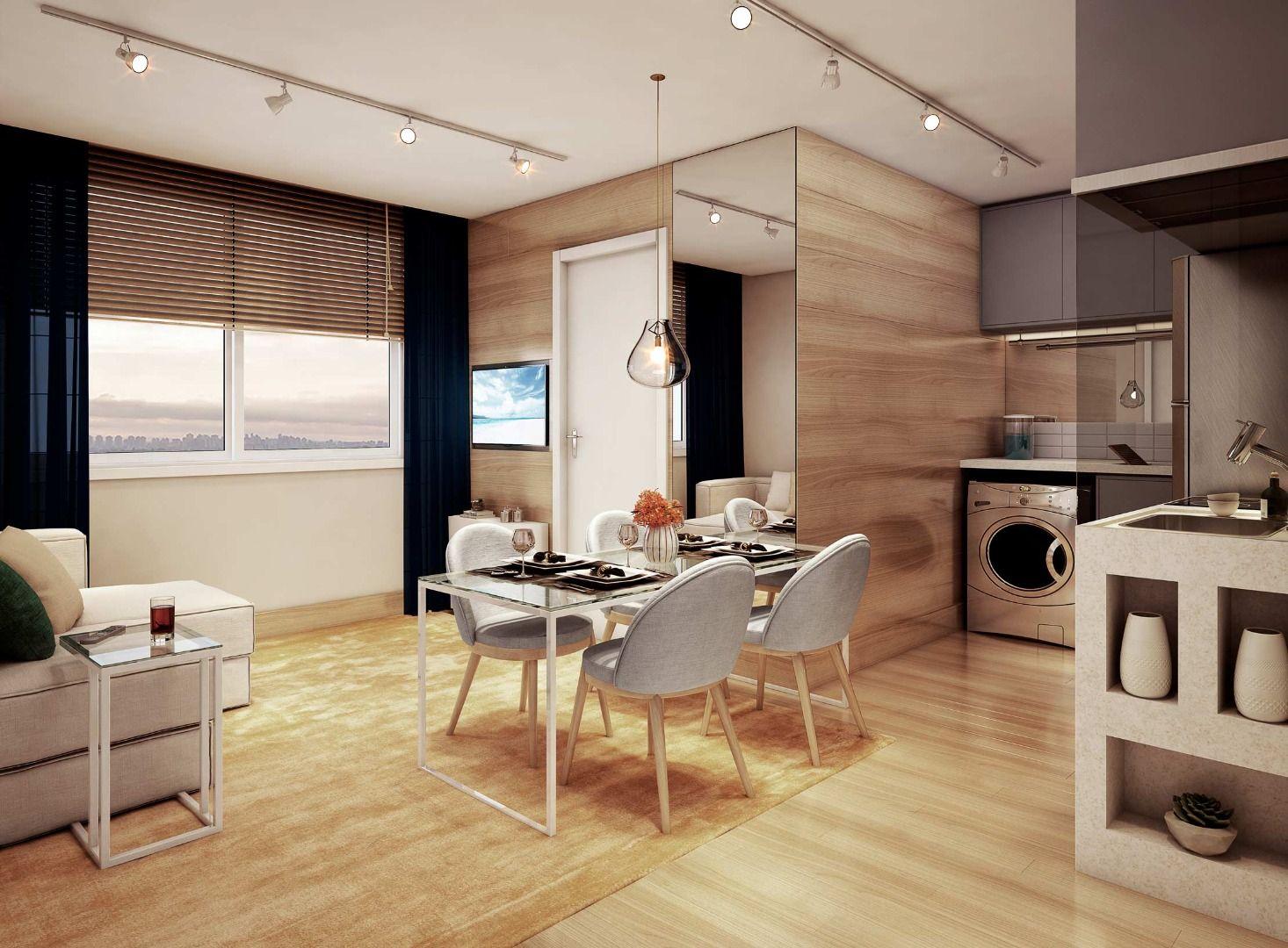 SALA do apto de 34 m².
