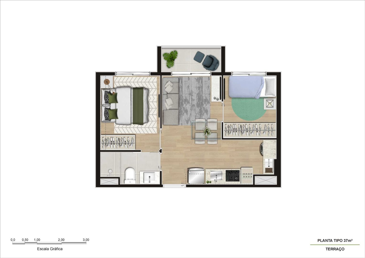 Planta do Viva Benx Tatuapé. floorplan