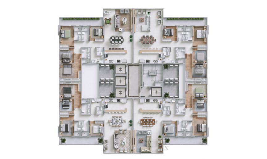 Planta do Horizon Residence. floorplan