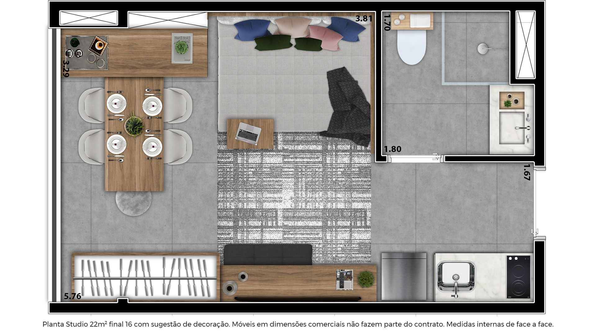 Planta do Arch Home Vila Mariana. floorplan