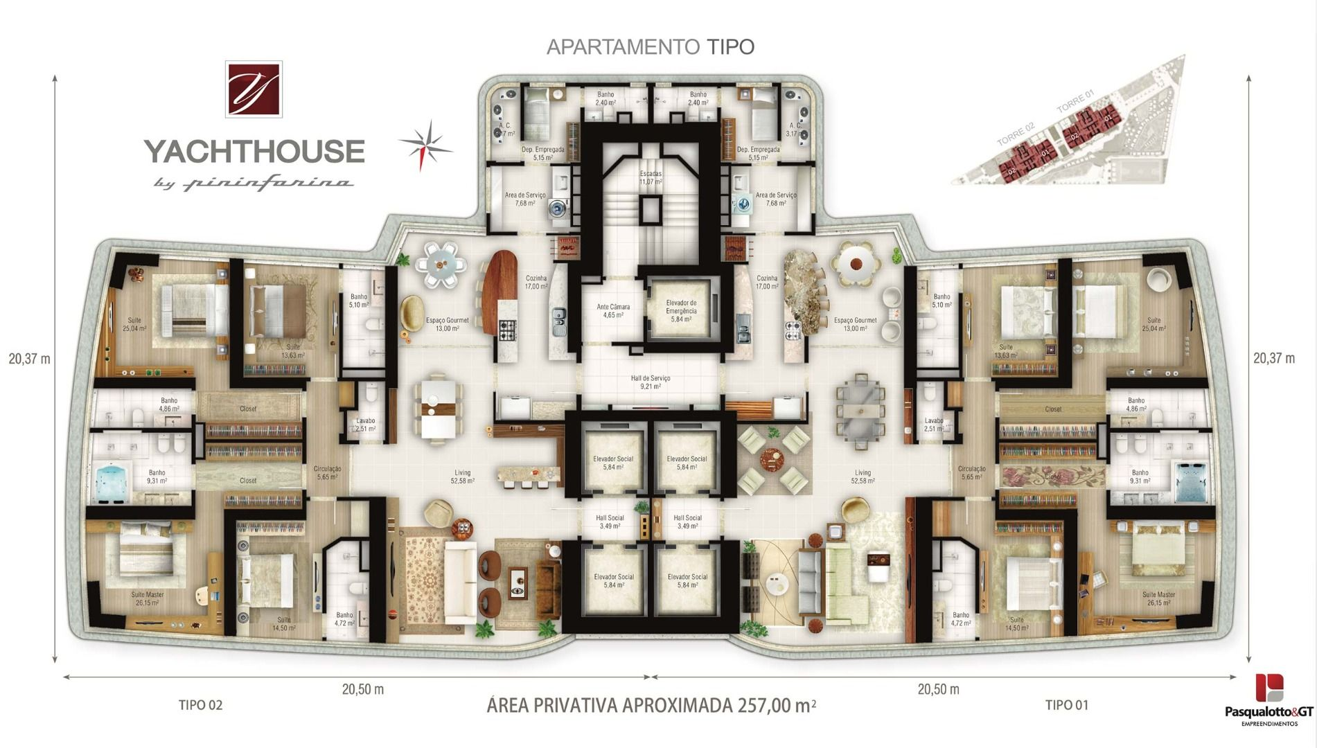 Planta do Yachthouse By Pininfarina. floorplan