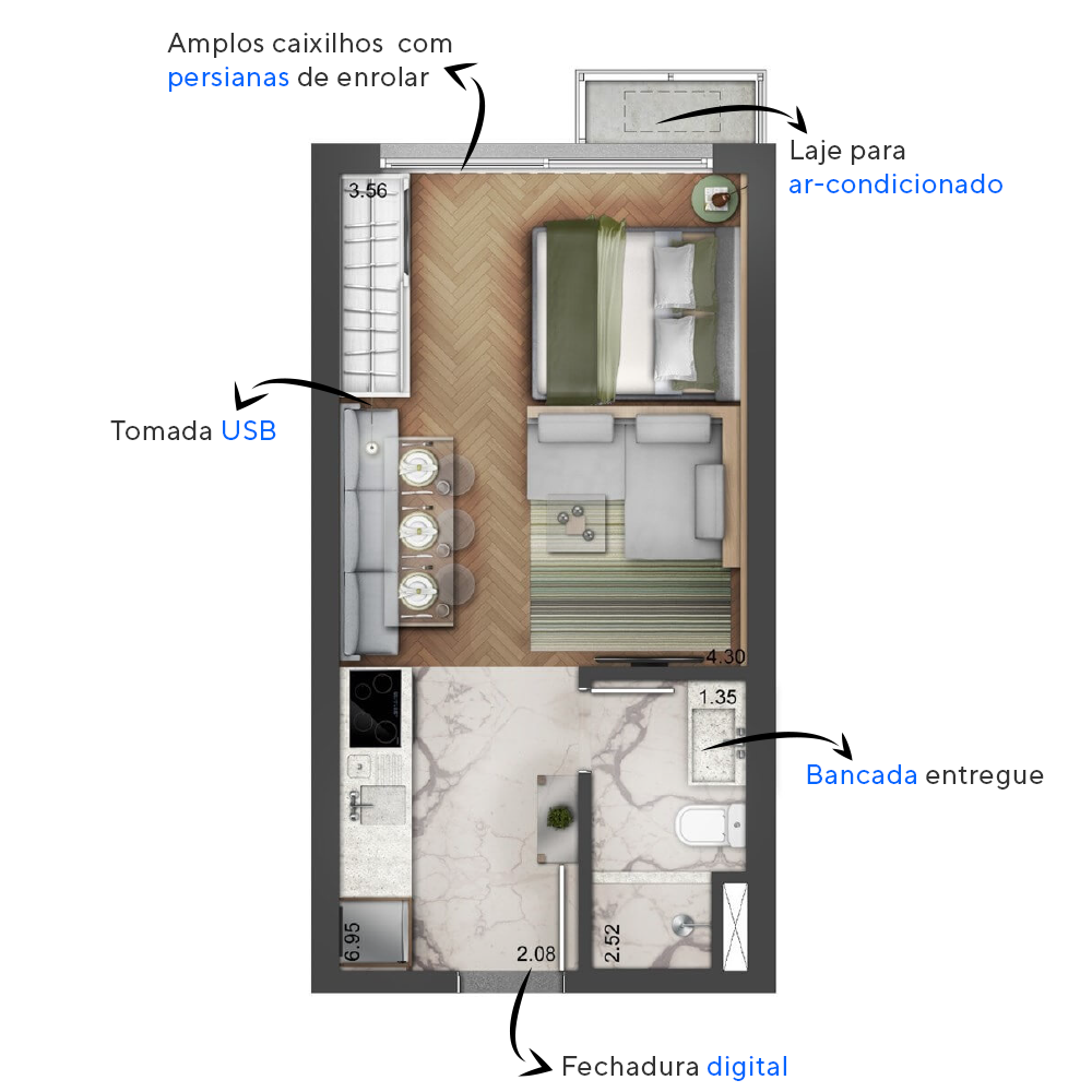 Planta do The Arch. floorplan