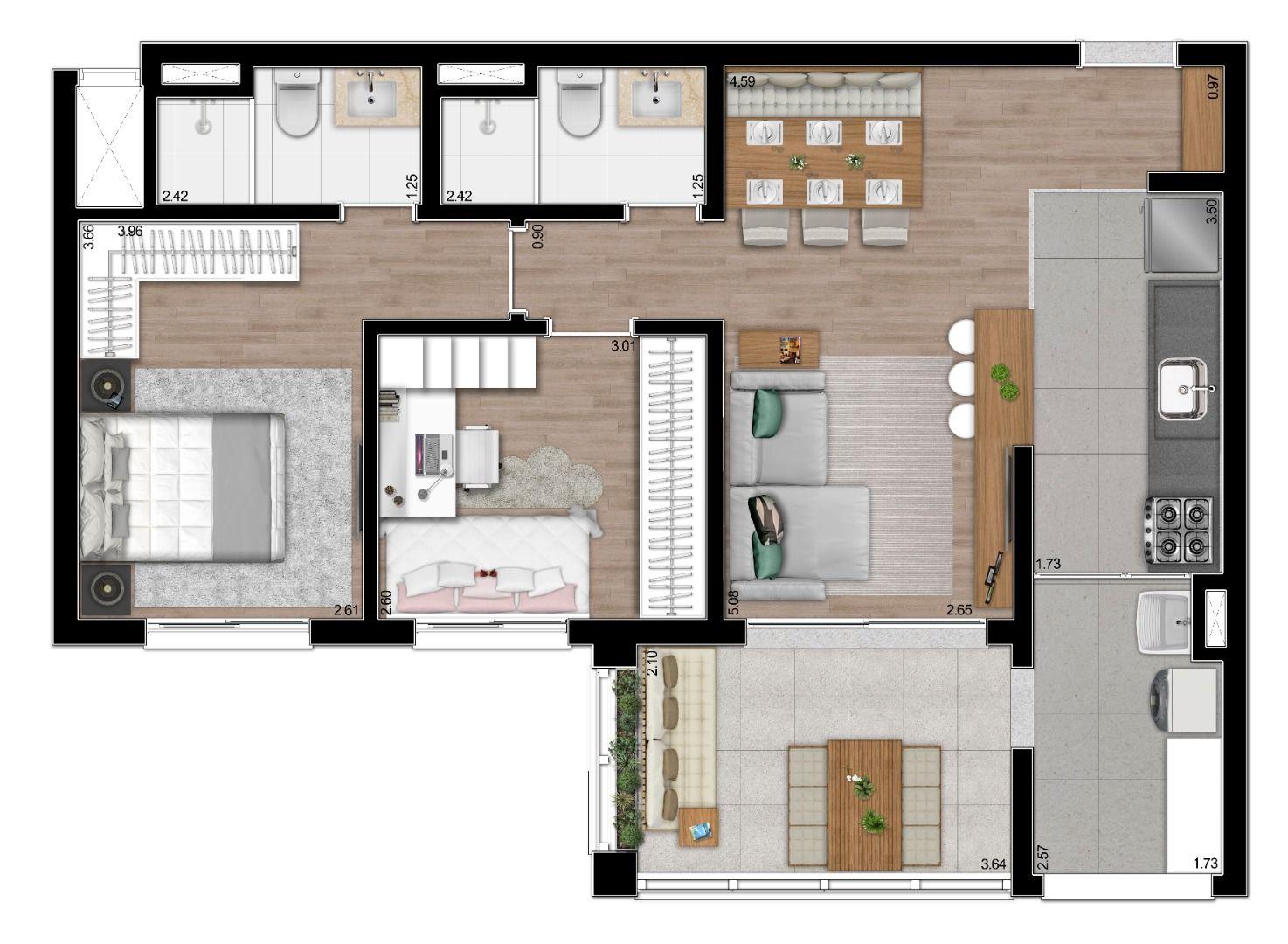 Planta do Casa Mariana. floorplan