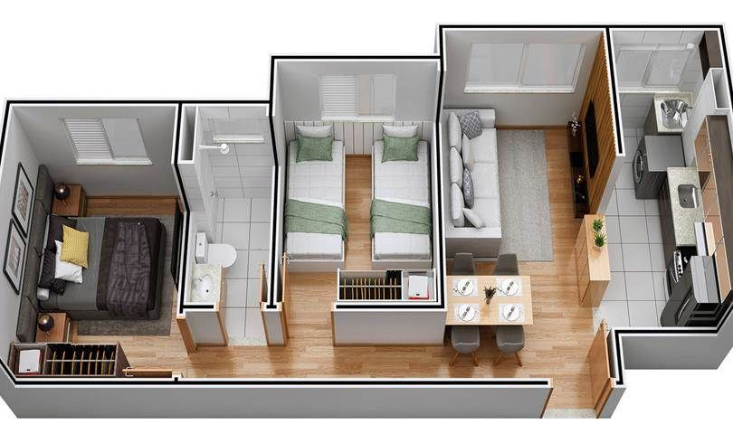 Planta do Alameda do Carmo - Saint Ives. floorplan
