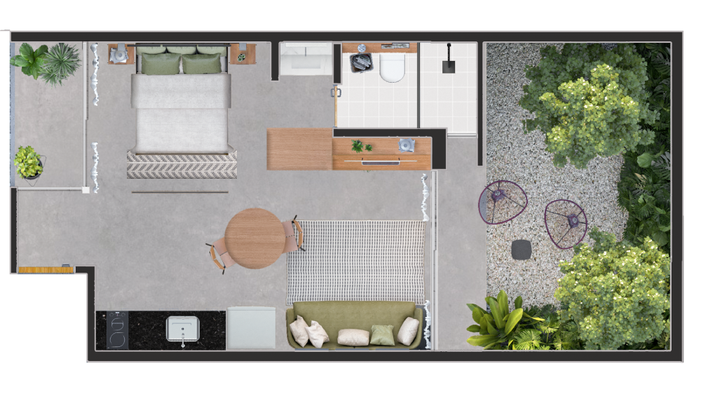 Planta do Tico Ribeiro do Vale. floorplan